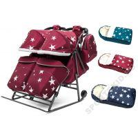 Санки-коляска Pikate Звезды Twin +