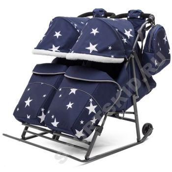 Санки-коляска Pikate Звезды Twin