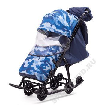 Санки-коляска Pikate Compact Military (2019)