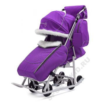 Санки-коляска Pikate 7 Снеговик