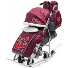 Санки-коляска Радуга Cherry Ice